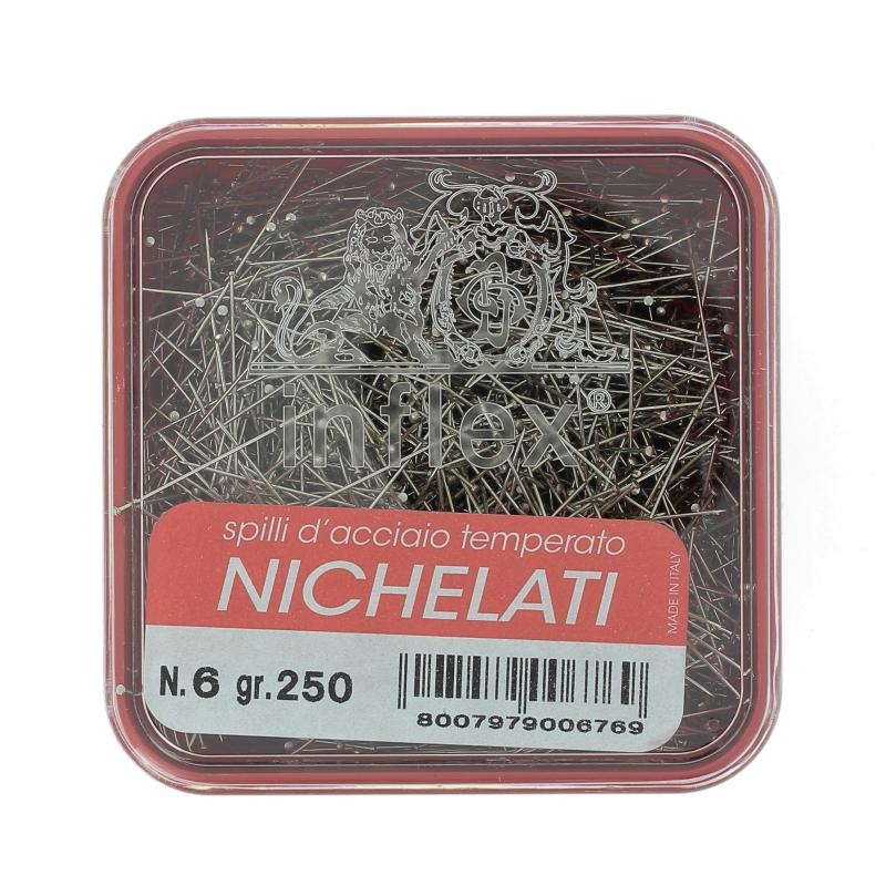 Spilli inflex acciaio scatola da 250 grammi