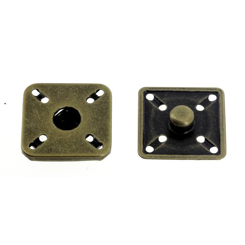 Bottoni a Pressione in Metallo Mod.3115X Ottone Vecchio Lin.44-54