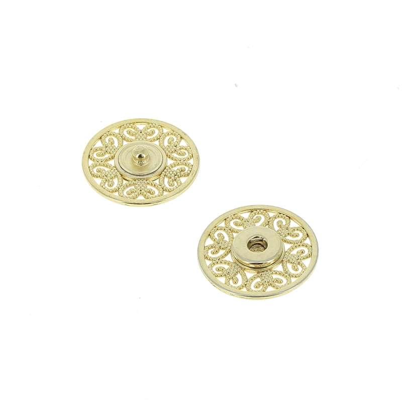 Bottoni Automatici in metallo Mod.53823 OroEco Free lin.36 e 44