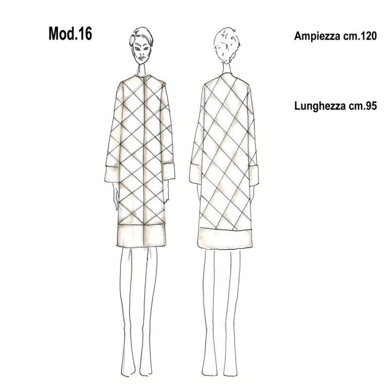 cartamodello per pellicce mod.16