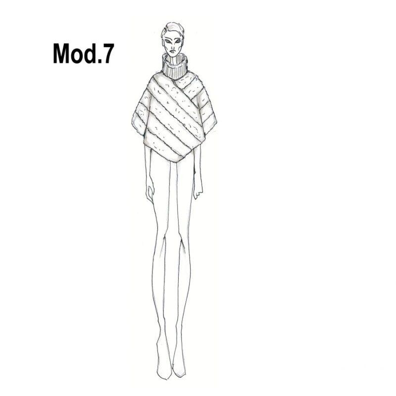 Cartamodello per pellicce mod.7